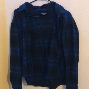 Blue and black flannel
